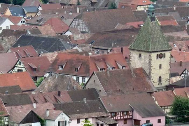 Bergheim roofscape