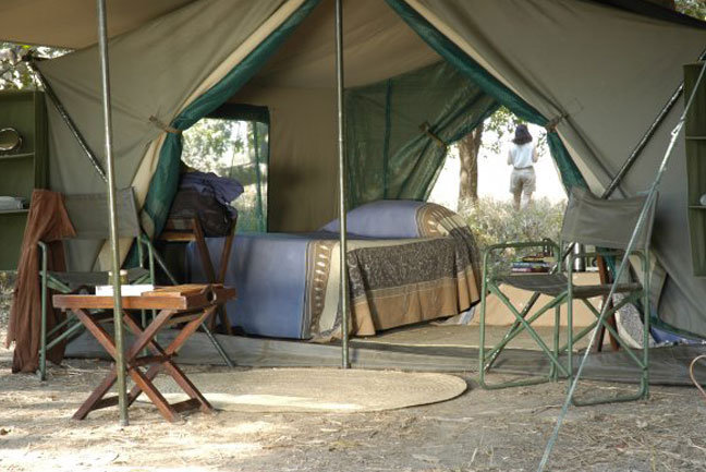 You'll be staying in comfortable bush camps