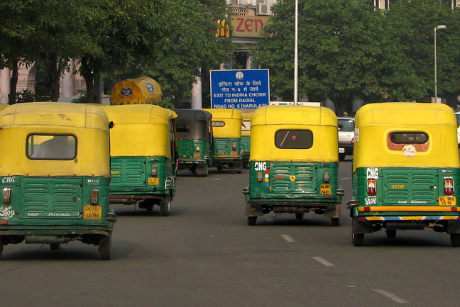 Auto-rickshaws in Delhi