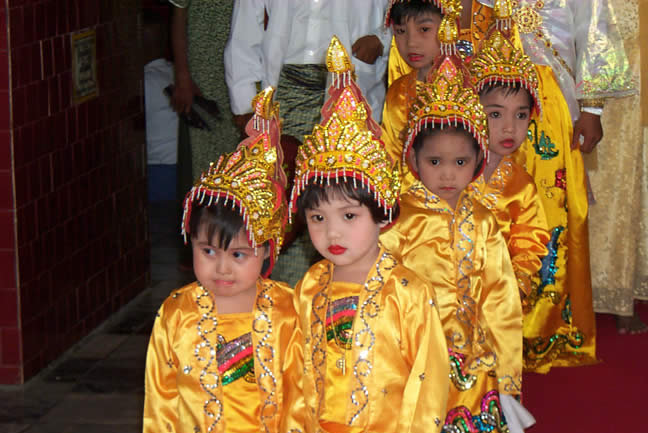 Young novice in a Burmese temple