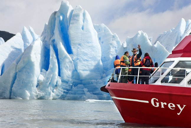 Boat to Grey Glacier, Patagonia