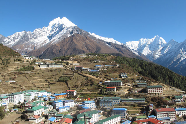 Namche Bazaar on the Everest Base Camp in Style Trek, Mountain Kingdoms