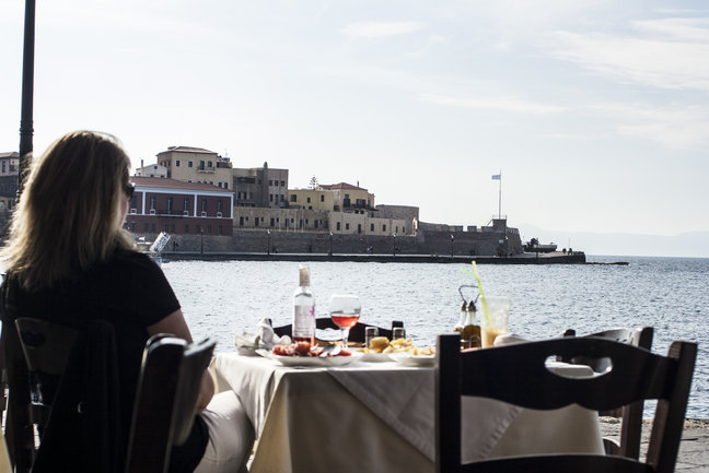 Lunch in Chania Harbour