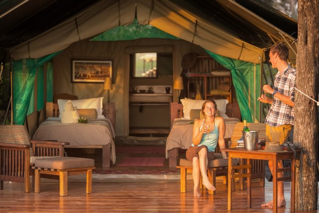 Luxury camping at Macatoo Camp