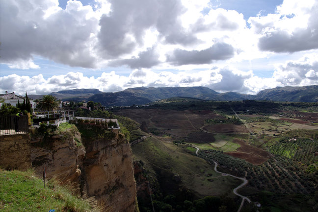 The view west from Ronda