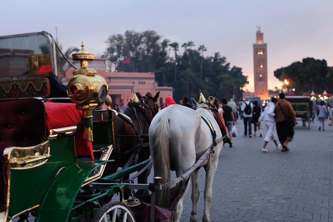The Koutoubia Mosque from Jemaa el Fna