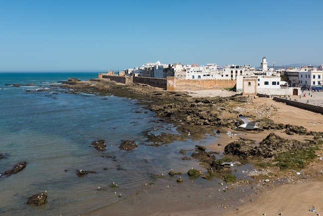 The seaside town of Essaouira, Morocco