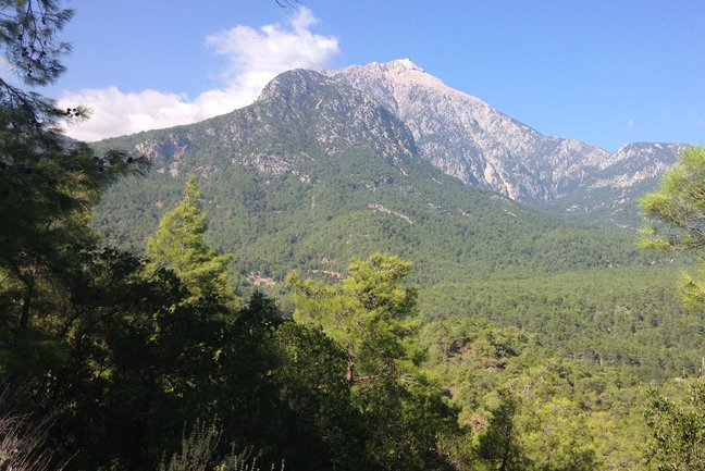 Mount Tahtali (Olympos to the Greeks) from the Chimaera saddle