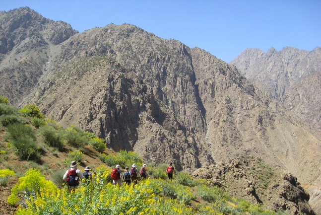 Berber trek to Mount Toubkal. By A Nuttall