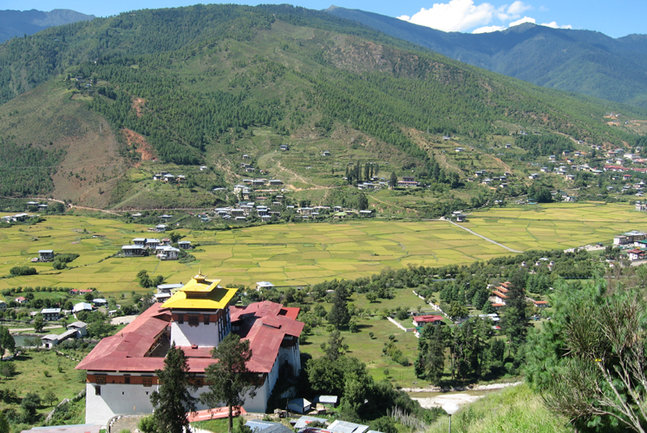 Paro Valley. Image by N Sloman