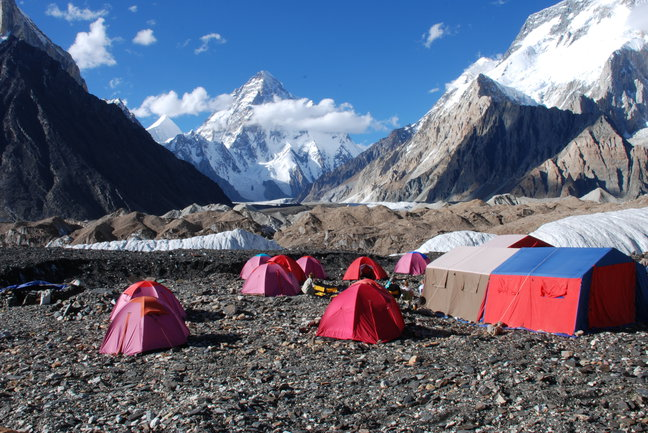 K2 Base Camp in Pakistan