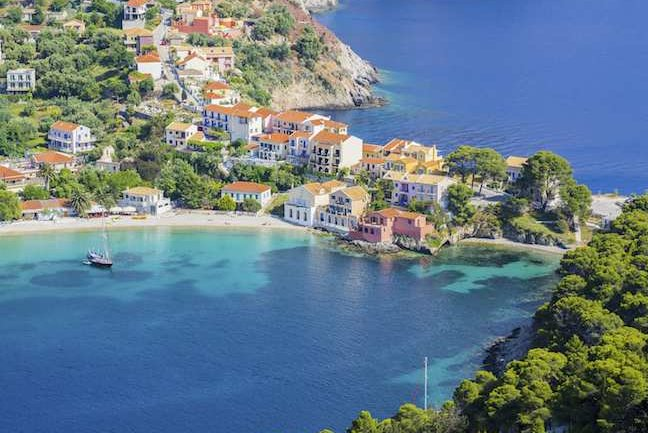 Assos nestles in a picturesque bay on Cephalonia
