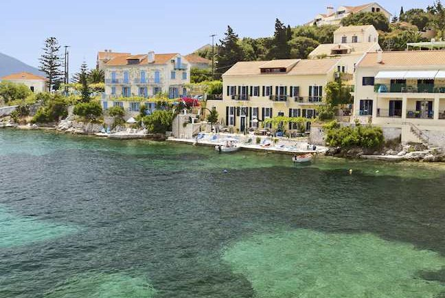 The fishing village of Fiscardo on Cephalonia