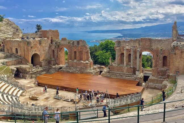 The Ancient Theatre at Taormina © Oliver Kenzie