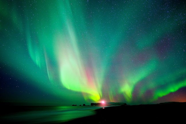 Iceland  Auroras by land and sea