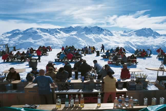Enjoy the atmosphere at mountain bars
