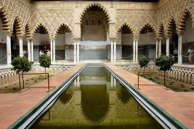Amazing architecture of Alcázar in Seville