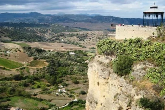 Far-reaching views from cliffs of Ronda