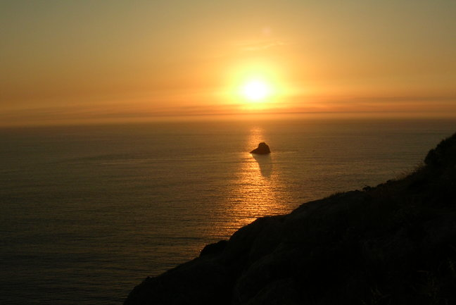 Journeys End - sunset at Finisterre
