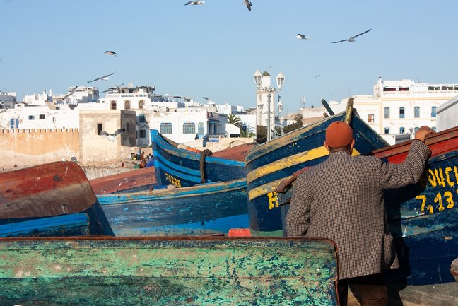 Fishing boats Essaouira port