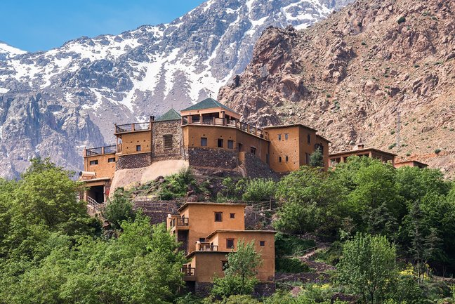 Kasbah du Toubkal in the High Atlas Mountains