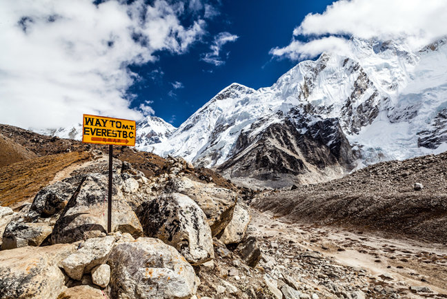 Footpath to Mount Everest Base Camp