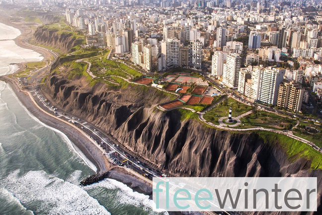 The imposing capital of the country: Lima