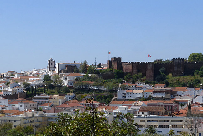 The impressive Moorish castle in Silves and the Cathedral