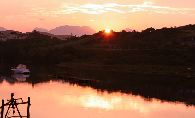 Sunrise from your hotel in Clifden