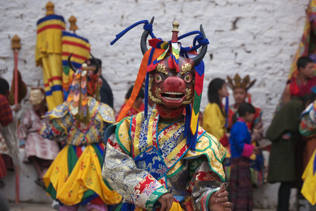 Gentle Walking Bhutan holiday with Mountain Kingdoms - each departure attends a colourful festival