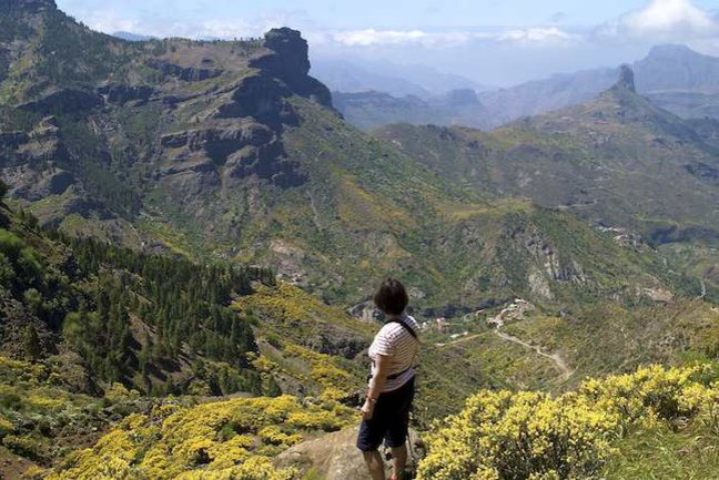Epic views into the central mountains of Gran Canaria