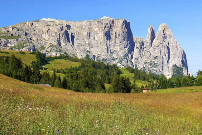 Walking through the enchanting dolomites is a real joy with jagged