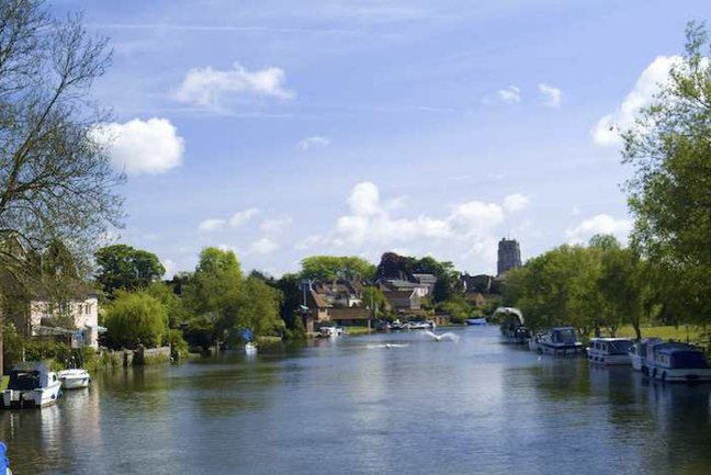 Enjoy lovely views of boats on the River Waveney as you start your walk
