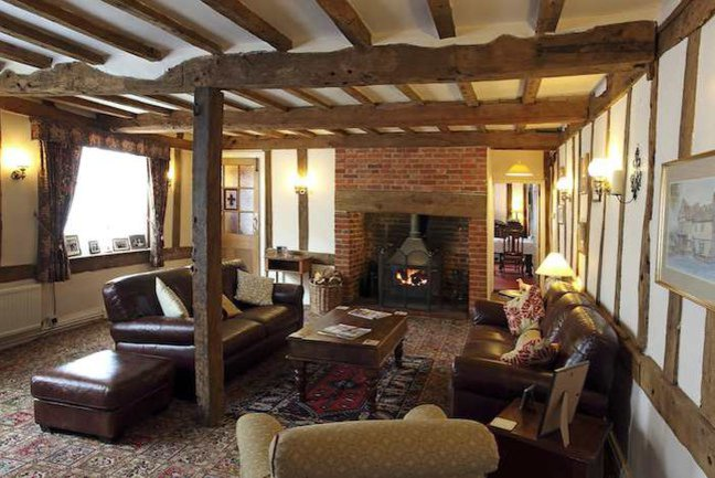 Relax in the cosy guest lounge at your final guesthouse