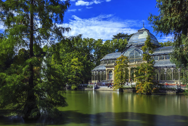 Crystal Palace in Madrid's Retiro Park