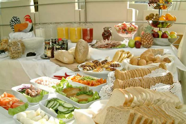 Breakfast Buffet At The Hotel Odinsve