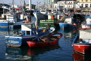 Fishing boats at bay, Luarca, Asturias