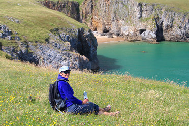 Relaxing on the Pembrokeshire Coast Path