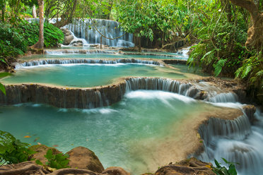 One of the many stunning waterfalls in Laos