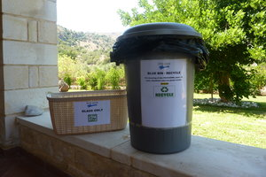 Reducing landfill on Crete by installing recycling bins in 50% of Pure Crete's holiday houses